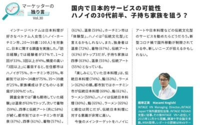 """[Article] """"Potential of JP-style service in VN; aiming for a family with children in their early 30s in Hanoi? """" from ACCESS (Jan. 2021)"""